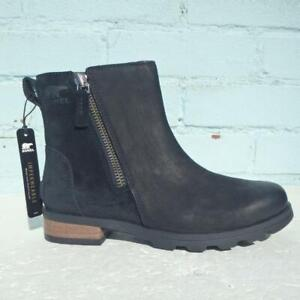 New Sorel Leather Ankle Boots UK 3 Eur 36 Womens Shoes Waterproof Black Boots