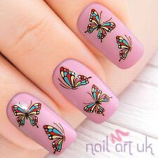 Multicolour Butterfly Adhesive Nail Stickers, Art, Decals,  01.02.094