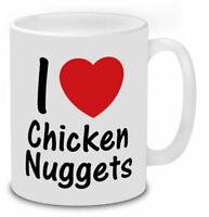 I Love Chicken Nuggets Mug Funny Tea Coffee Cup Secret Santa Gift
