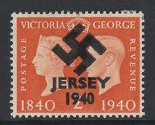GB Jersey (279) 1940 Swastika Overprint forgey om genuine 2d Centenary u/m
