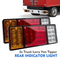 Pair 12V Rear Stop 36 LED Light Tail Indicator Lamp Trailer Truck Van Lorry AU