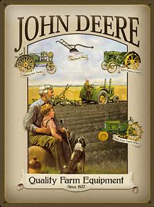 Nostalgique Type Plaque 30x40 John Deere Grand Père Qualité Farm Equipment
