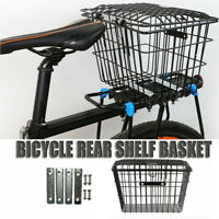 Anti-theft Bike Basket With Cover And Rear Shelf Of Bicycle Rear Basket Spring