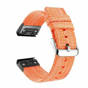 Quick Fit Nylon Watch Band Strap For Garmin Fenix 3/3HR/6X Pro/5X Plus/D2 Delta