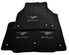 Floor Mats For Bentley Flying Spur Tailored Black Carpets With Bentley Emblem