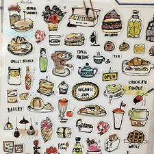 Brunch Day PVC Stickers Drink Food Scrapbook diary Cardmaking Phone DIY
