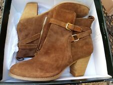NIB Ralph Lauren Brown Macie Suede/Leather Ankle Boots Size 10B MSRP $159