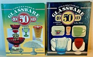 Collectible Glassware from the 40's, 50's, and 60's - 2 Book Lot - Hardcover