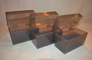 (3) 30-06 / 270 BERRY AMMO BOXES 50 RNDS OF STORAGE (SMOKE COLOR)