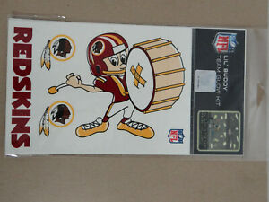 NFL- Lil' Buddy Team Glow in the Dark Kit Washington Redskins 20 Stickers (NEW)