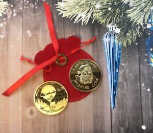 Large Santa Wishing Coin - I Believe Ring & Gift Bag Christmas Stocking Filler