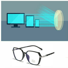 Stylish Clear Len Anti-blue Light Metal Big Frame Irregular Optical Glasses