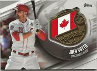 2020 Topps Series 1 JOEY VOTTO Global Game Medallion Relic Reds #GGM-JV Canada