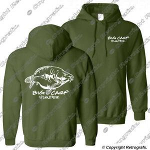 Big Carp Hunter Fishing hoodie catfish perch pike angling Birthday Gift hoody B