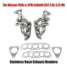 For Nissan 350z & 370z Infiniti G37 3.5L 3.7L V6 Stainless Race Exhaust Headers