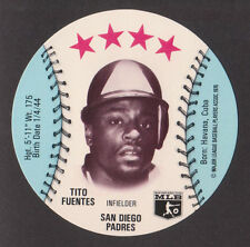 1976 MSA Isaly's Sweet William Discs TITO FUENTES San Diego Padres MINT