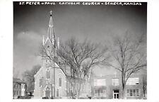 Seneca Kansas~St Peter & Paul Catholic Church~1950s Real Photo Postcard~RPPC