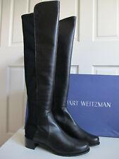 NIB $665 Stuart Weitzman Reserve 5050 Nappa Leather Boots OTK Black sz. 9.5