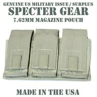 SPECTER GEAR 747 US MILITARY FOLIAGE MOLLE TRIPLE 7.62 RIFLE MAG POUCH SHINGLE