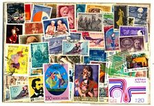 INDIA USED COMMEMORATIVE STAMPS-200 All Different Used Large Postage Stamps