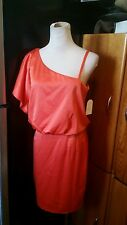 Jessica Simpson dress size 6 mandarin new with tags one bat one spaghetti strap