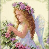 "Dimensions Counted Cross Stitch Kit Passion Flower Angel 11""X11"" 14 Count NEW"