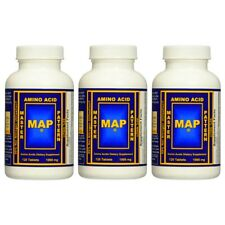 MAP Master Amino Acid Pattern MUSCLE BUILDER PROTEIN - 3 Bottles, 360 Tablets