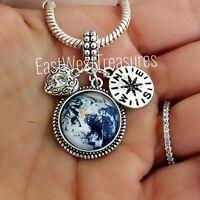 Enjoy the journey Happy retirement charm pendant bracelet necklace jewelry gifts