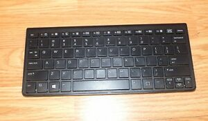 Genuine HP (KT-1281) Black Bluetooth Keyboard For Phones or Tablets **READ**
