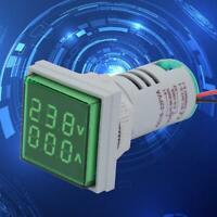 NEW LED Digital Display AC Voltage Current Meter Indicator 22mm 60-500V 0-100A