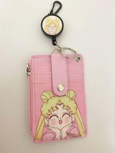 Japan anime Sailor Moon Luna Usagi Small Purse ID Card Holder Wallet Gift