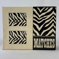 NEW!! Vintage ZEBRA PRINT MATCH CUPS With Strike Pad Bottom Japan for Candles