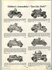 1934 PAPER AD Apollo Bicycle Motor Bikes Pedal Car Skippy Racer Auburn Packard