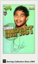 2010 Select NRL Champions Impact Foil Signature IS50 Chris Sandow (Rabbitohs)