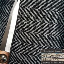 Donegal wool herringbone  fabric,material ideal for coats,suits 150cm