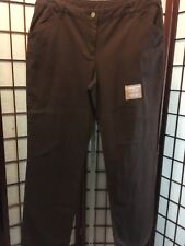 White Stag Comfort Pant Brown 12 Cotton Stretch New 180717