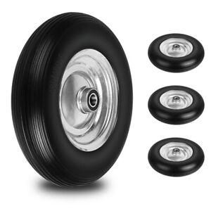 Bueno Rueda de Carretilla PU 4.80/4.00-8 A Ø390mm Neumático Con Borde Acero