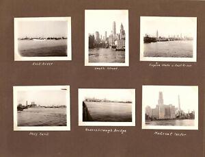 """ALBUMBLATT """"REISE nach NEW YORK SEPTEMBER 1934 RUNDFAHRT nach MANHATTAN 10 FOTOS"""