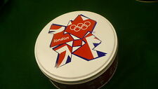 "London 2012 summer olympics metal tin biscuit cookie  England round 6"" diamter"