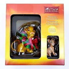 New Walt Disney Lion King Hanging Ornament Simba & Nala Christmas Enesco