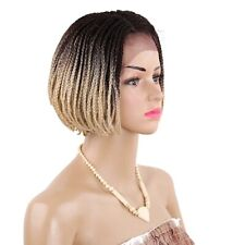 Twist Braids Synthetic Lace Front Wig Box Braids Short Bob Wig ombre costume wig