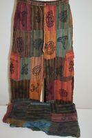 Mens Pants Printed patch cotton hippy yoga Comfy Unisex Summer hippie Men pant