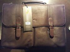 "Solo Premium Leather 16"" Laptop Briefcase, Espresso, D535-3 ***NEW***"