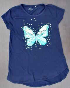 Mädchen - T-Shirt - Gr. 158/164 - mit Wendepailetten