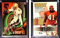 Terry Kirby Signed 1998 SkyBox Thunder #46 Card San Francisco 49ers Autograph