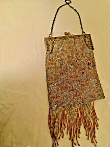 Gorgeous Vintage bead clutch bag - over 100 years old!