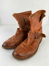 FIORENTINI + BAKER Womens Leather Buckle Ankle Boots Light Brown Size 37 US 7