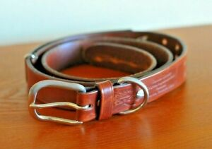 Colonel Littleton No. 1 adjustable brown bridle leather belt Large Made in USA