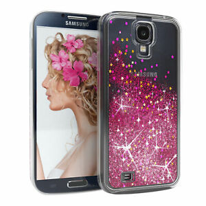 For Samsung Galaxy S4 Glitter cover Liquid Silicone Skin Case Phone Pink