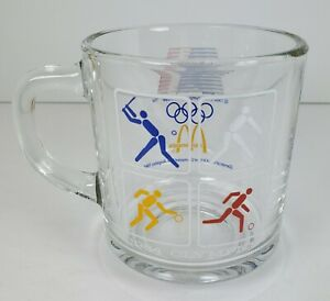 1984 Los Angeles Olympics McDonald's Glass Coffee Cup 23rd Olympiad 1981